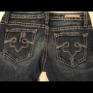 Rerock for Express Womens Jeans Bootcut Lowrise 2R